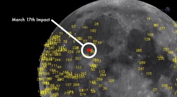 Εκτυφλωτική λάμψη στη σελήνη, ορατή από γυμνό μάτι, από την πτώση μετεωρίτη (video)