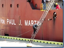 8155 Port Colborne - Lock 8 Gateway Park - RT HON PAUL J MARTIN self unloading lake freighter