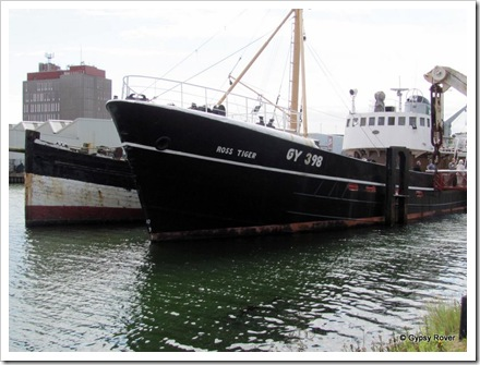 A sidewinder trawler built in 1957 and fished until 1984. It was then used as an oil rig tender boat until 1992.