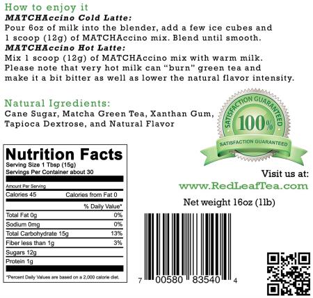 Red Leaf Tea Caramel Matchacinno Instructions