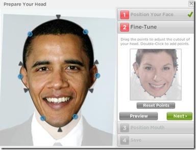 Gagnam Style personalizzato indicare contorno viso