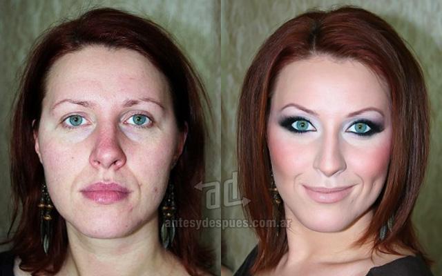 Antes y despues del maquillaje 20