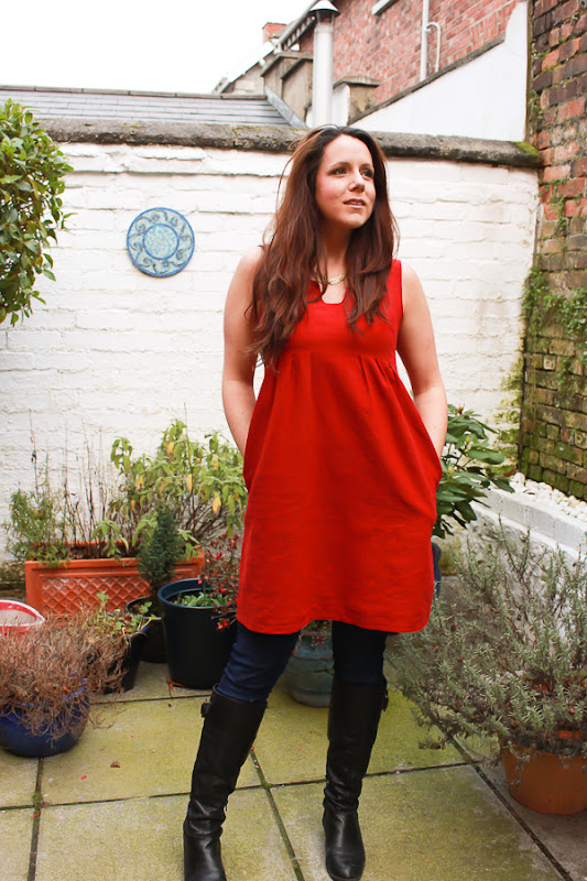 Su Sews So So Red Washi Dress 3