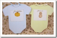 Pumpkin & Peanut Baby Bodysuit Ornaments