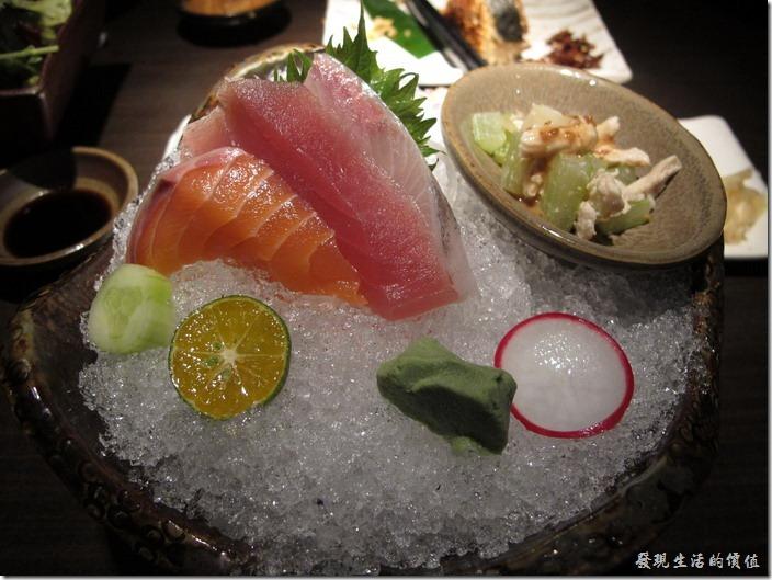 台北-三四味屋。【酒屋旬鮮套餐】生魚片。
