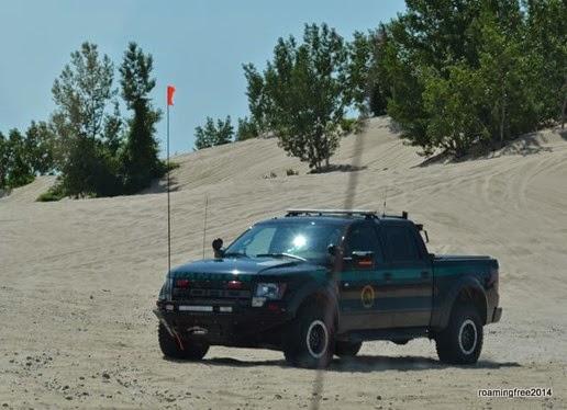 Park Ranger in a Ford Raptor
