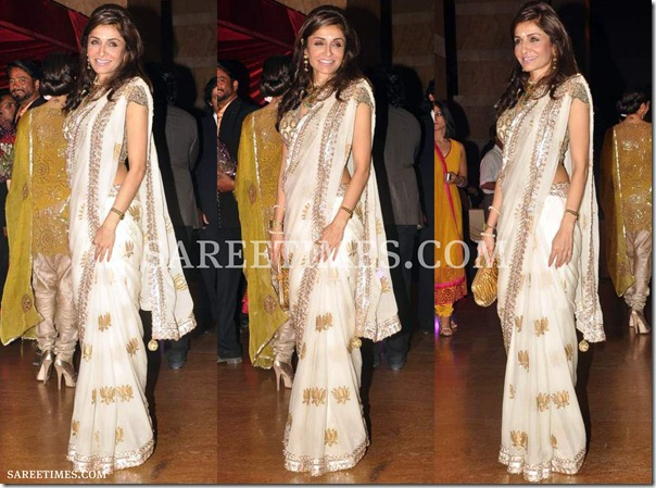 Queenie_Singh_White_Saree