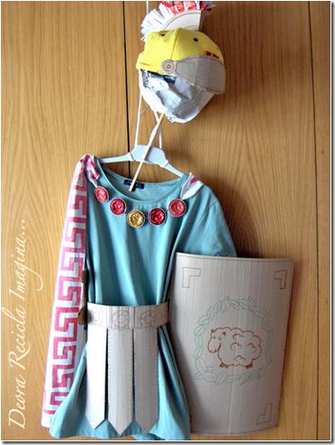 disfraz de romano reciclados todohalloween-net