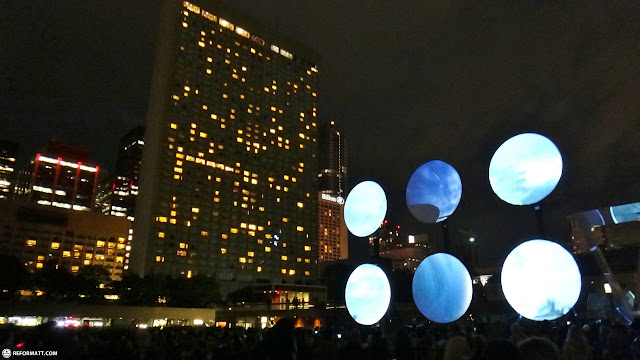 nathan philips square nuit blanche in Toronto, Ontario, Canada
