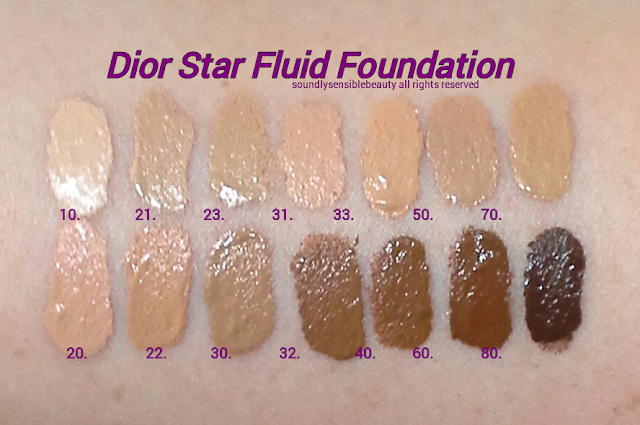 DiorSkin Star Fluid Foundation Review & Swatches of Shades