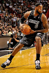 lebron james nba 120129 mia vs chi 06 King James Unveils New Shoe   Black/Red/White LEBRON 9
