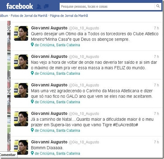 Giovanni Augusto no Face