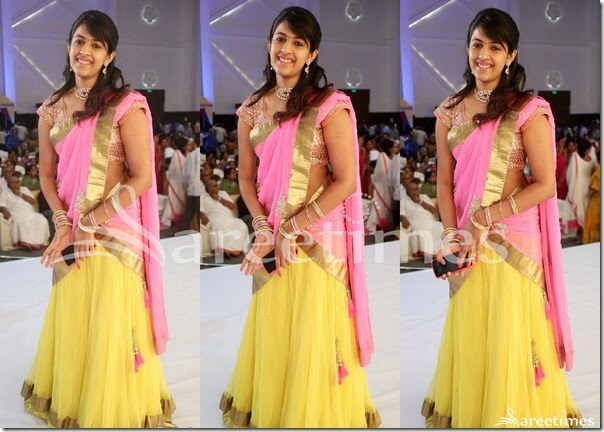 Yellow_Pink_Half_Saree