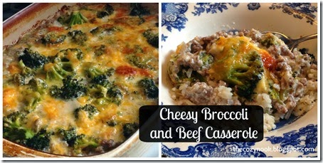 Cheesy Broccoli and Beef Casserole - The Cozy Nook