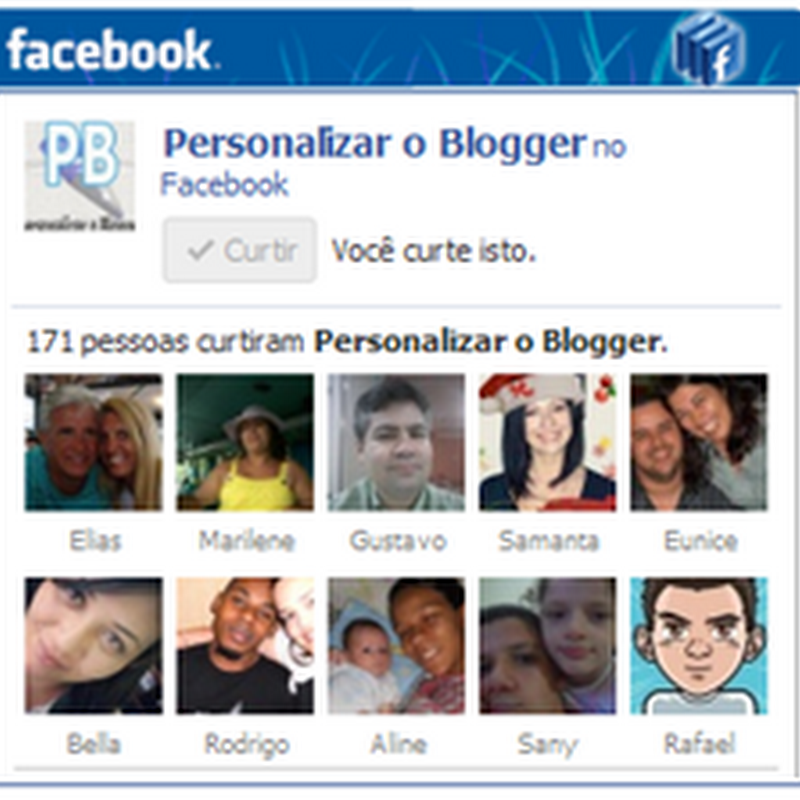 Widget Like Box do Facebook Personalizada versão #2