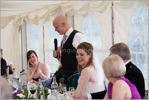 speeches Wedding photographer at dollar academy, angus forbes