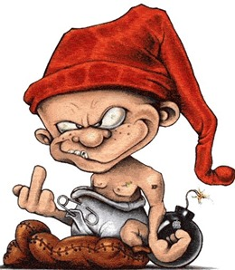 Gnome giving the finger