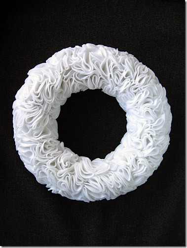 Winter wreath--ruffled felt wreath