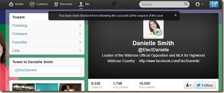 Danielle Smith Blocked Me 3
