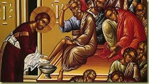 Holy Thursday - foot washing