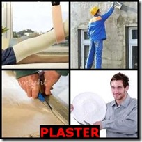 PLASTER- 4 Pics 1 Word Answers 3 Letters
