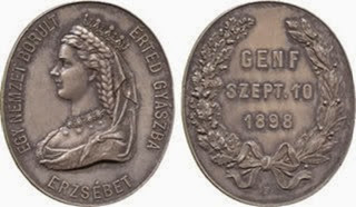 Medalla húngara que conmemora la muerte de su amada reina Ersébet.