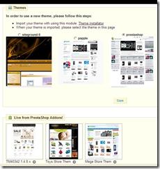sub-menu prefference tersedia daftar themes