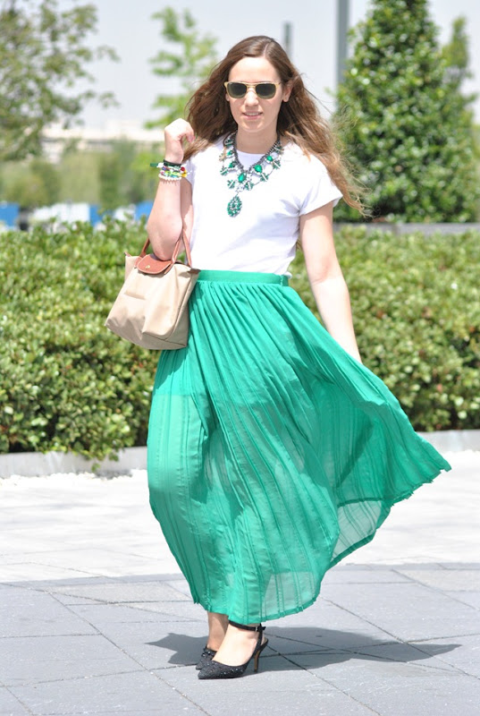 Long Green Skirt