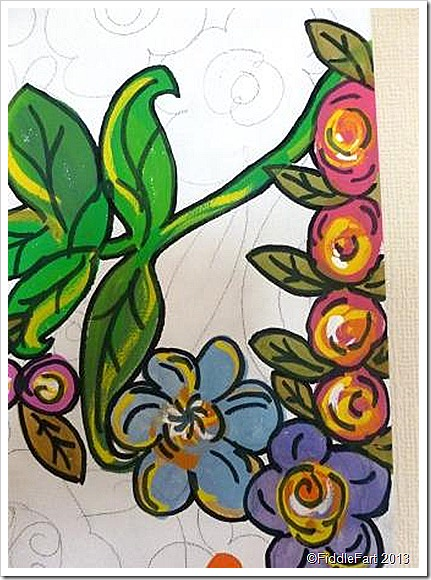 Floral Canvas in the making