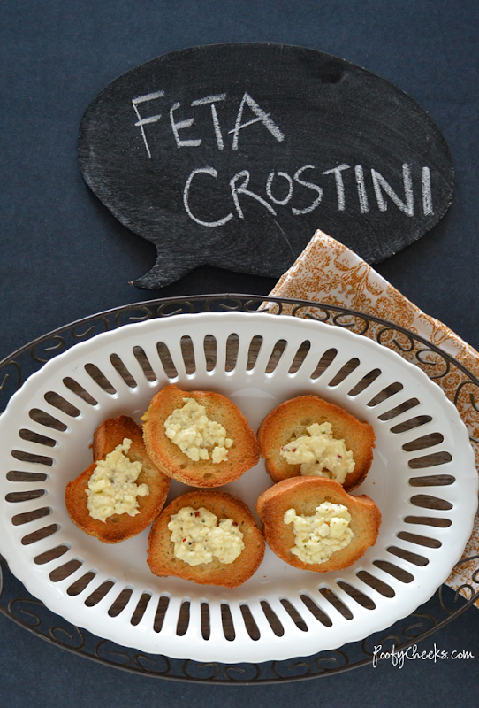 Feta Crostini - easy and quick #appetizer