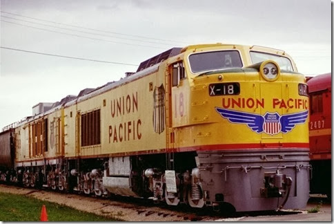 55389545-32 Union Pacific Gas Turbine #18 at the Illinois Railway Museum on May 23, 2004