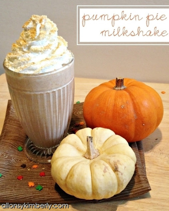 Pumpkin Pie Milkshake | allonsykimberly.com