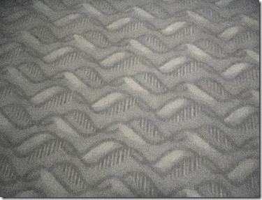 DNA pattern in the motel carpet