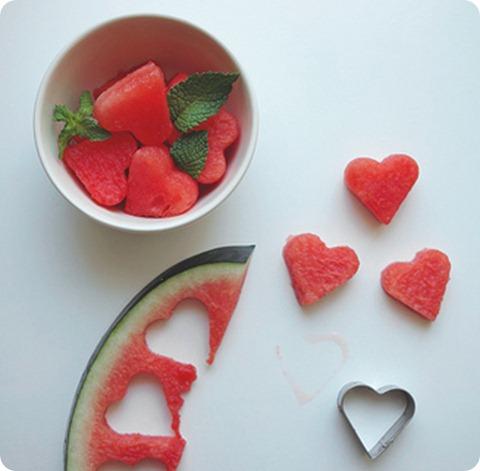 corazones de sandía para el dia del amor y la amistad 14 de febrero