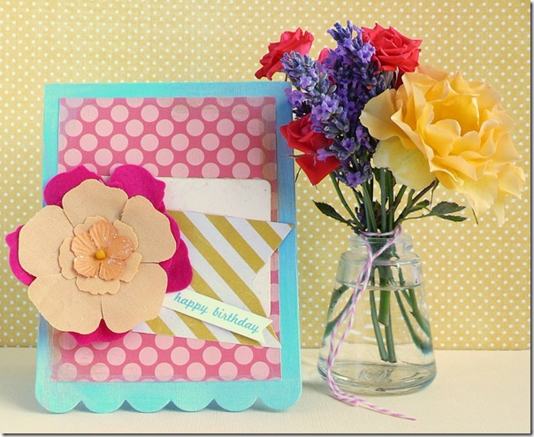 cafe creativo - Anna Drai - big shot sizzix - card - flower - summer (1)