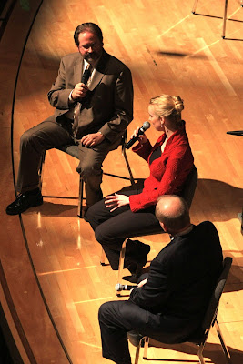 Chris Morrison, Molly Carr, and Theodore Kuchar at the pre-concert talk