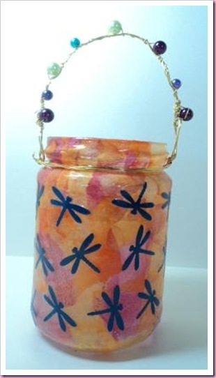 Decopatch Jam Jar lantern
