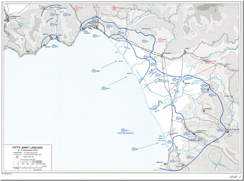 Fifth Army Landing Beaches Salerno-I
