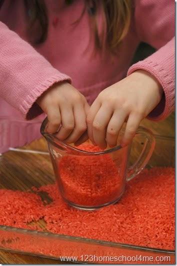 measuring rice kids activity for sunday school