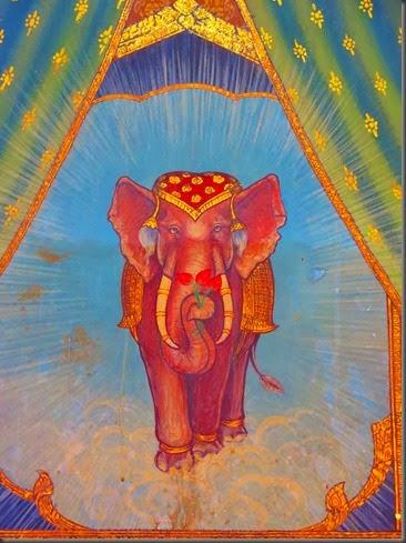 thai buddhist elephant art bangkok