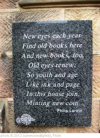 'BETH'S POETRY TRAIL No 7.  PHILIP LARKIN' photo (c) 2012, summonedbyfells - license: http://creativecommons.org/licenses/by/2.0/