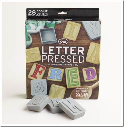 Q3 Kitchen Dept 13, 462001_FRED LETTERPRESS COOKIE SET Baking Central