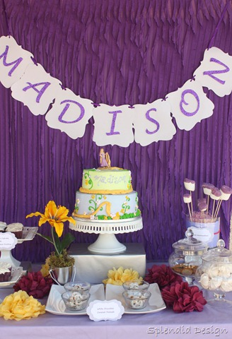 Tangled dessert table
