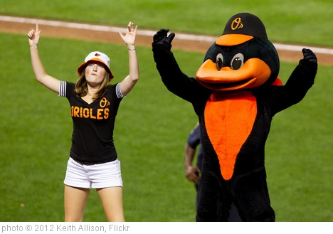 'Baltimore Orioles fan with bird' photo (c) 2012, Keith Allison - license: http://creativecommons.org/licenses/by-sa/2.0/