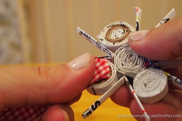 glueingonribbon #CraftLightning #NUO2014 #Ornaments #recycledcrafts #hotgluecrafts
