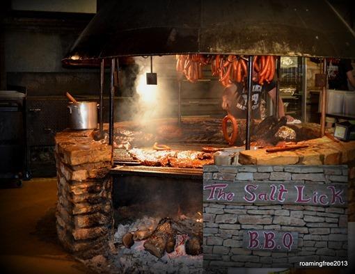 Grilling at the Salt Lick BBQ