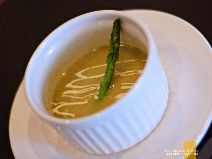 Cream of Asparagus at Chops Chicago Steakhouse