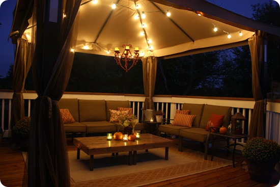 garden lights gazebo