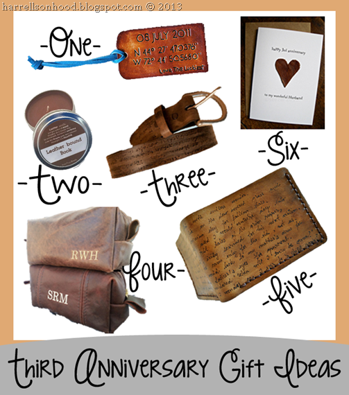 third anniversary leather gift ideas