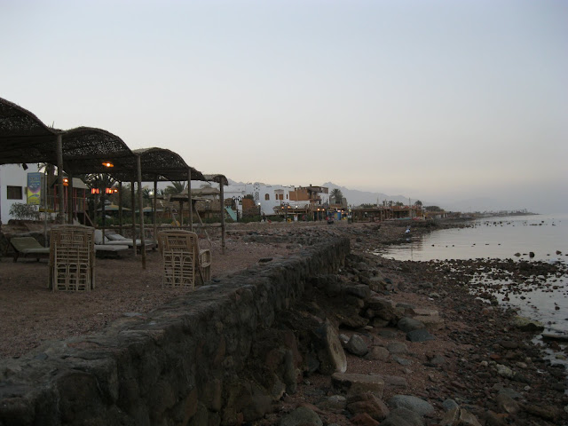 The beach at Dahab